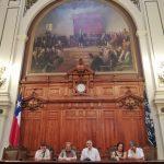 Conferencia de prensa en el ex Congreso